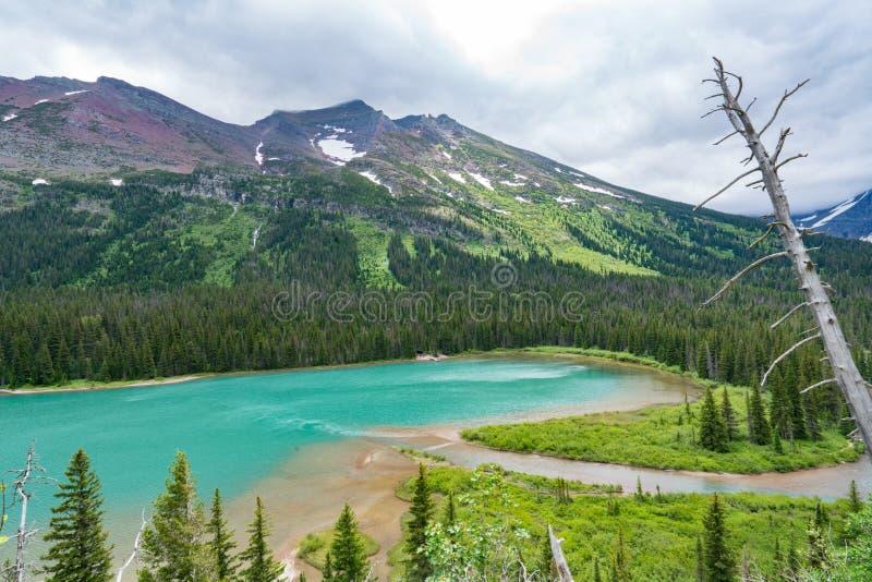 Josephine jezioro, lodowa park narodowy zdjęcie royalty free