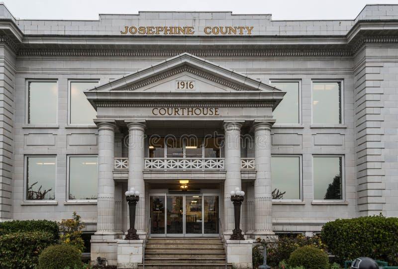 Josephine okręgu administracyjnego gmach sądu w dotaci przepustce Oregon zdjęcia stock