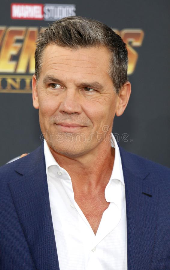 Josh Brolin. At the premiere of Disney and Marvel`s `Avengers: Infinity War` held at the El Capitan Theatre in Hollywood, USA on April 23, 2018 royalty free stock photo