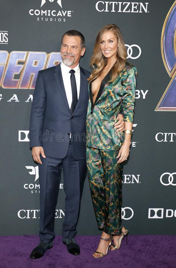 Josh Brolin and Kathryn Boyd. At the World premiere of `Avengers: Endgame` held at the LA Convention Center in Los Angeles, USA on April 22, 2019 royalty free stock photos