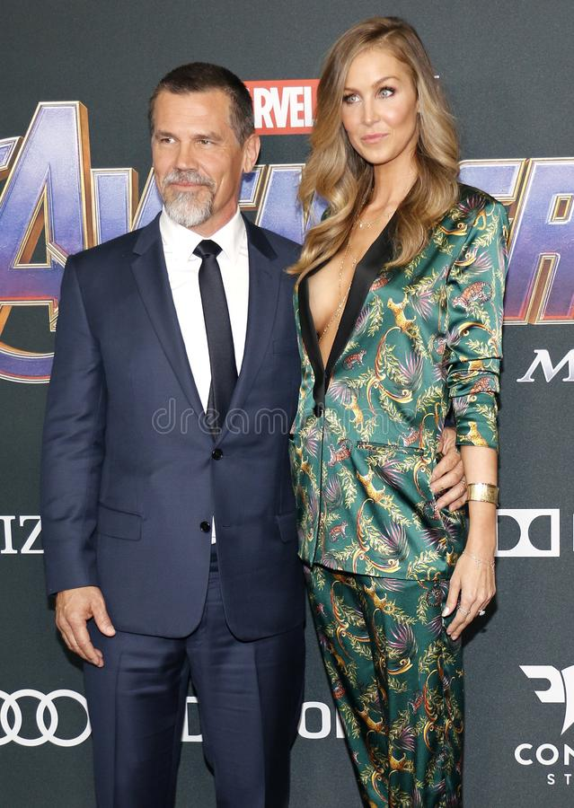 Josh Brolin and Kathryn Boyd. At the World premiere of `Avengers: Endgame` held at the LA Convention Center in Los Angeles, USA on April 22, 2019 royalty free stock images