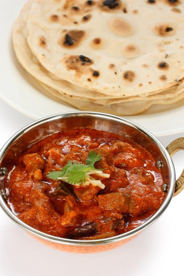 Josh rogan del montone, curry del montone, cucina indiana fotografie stock
