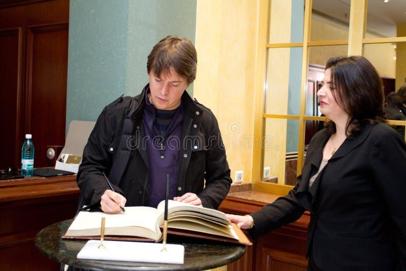 Joshua Bell fotos de archivo libres de regalías