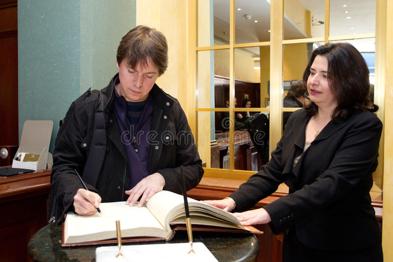 Joshua Bell foto de stock