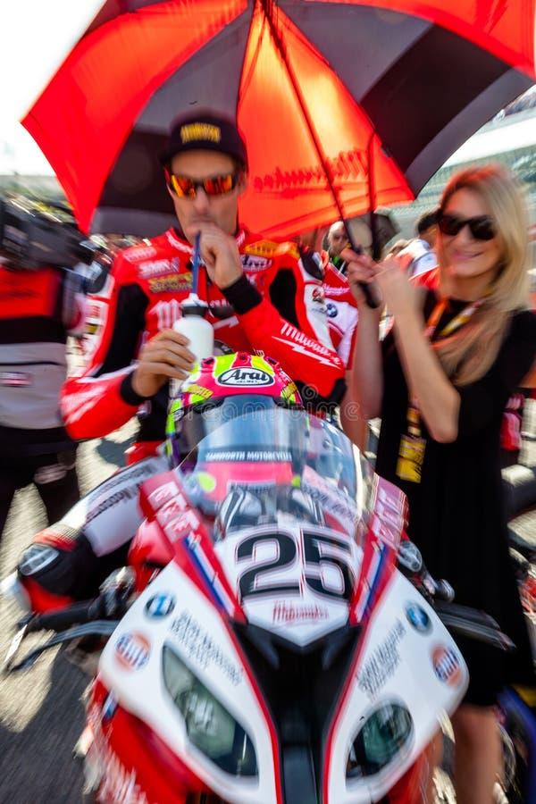 Joshua Brookes pilot av Superbikes SBK royaltyfria foton