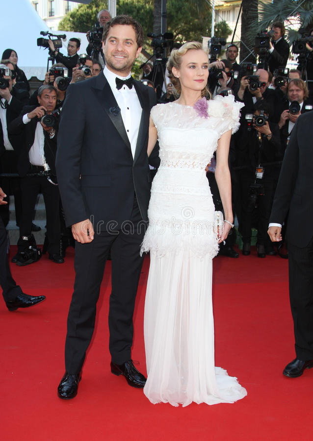 Joshua Jackson and Diane Kruger royalty free stock photos