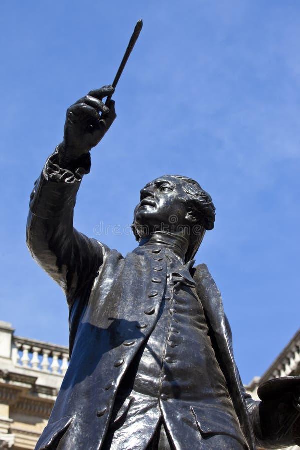 Joshua Reynolds Statue à la Chambre de Burlington photographie stock