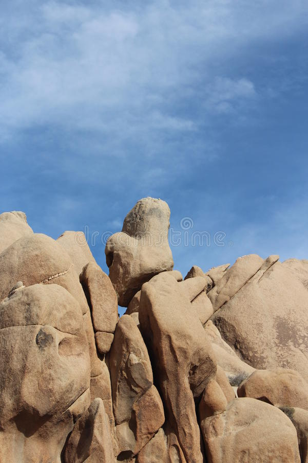 Joshua Tree National Park Geology Closeup royaltyfria bilder