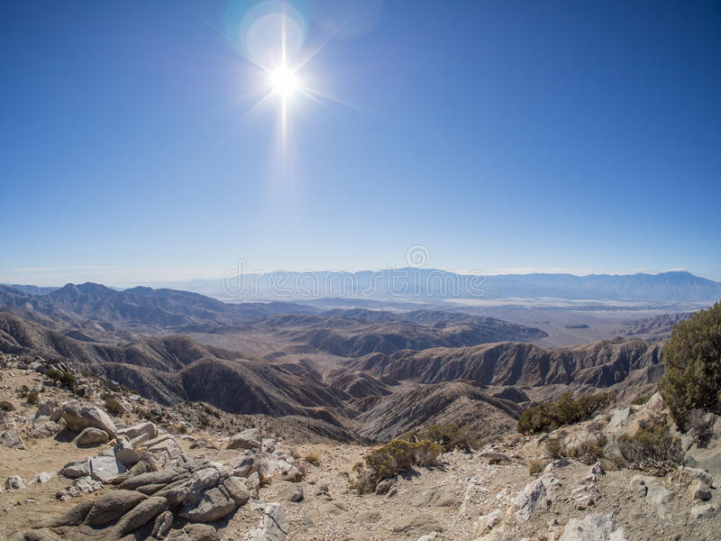 Joshua Tree National Park. Keys View. San Andreas Fault. Joshua Tree National Park is immense, nearly 800,000 acres, and infinitely variable. It can seem royalty free stock photo