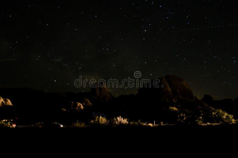 Joshua Tree Park bij Nacht royalty-vrije stock fotografie