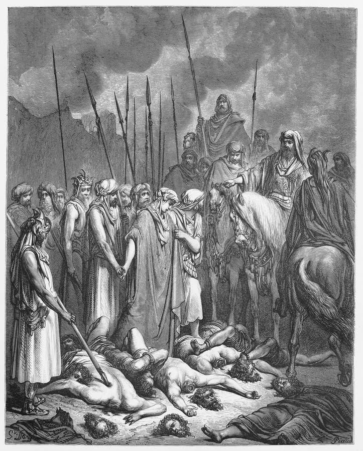 Joshuareserveonderdelen Rahab stock illustratie