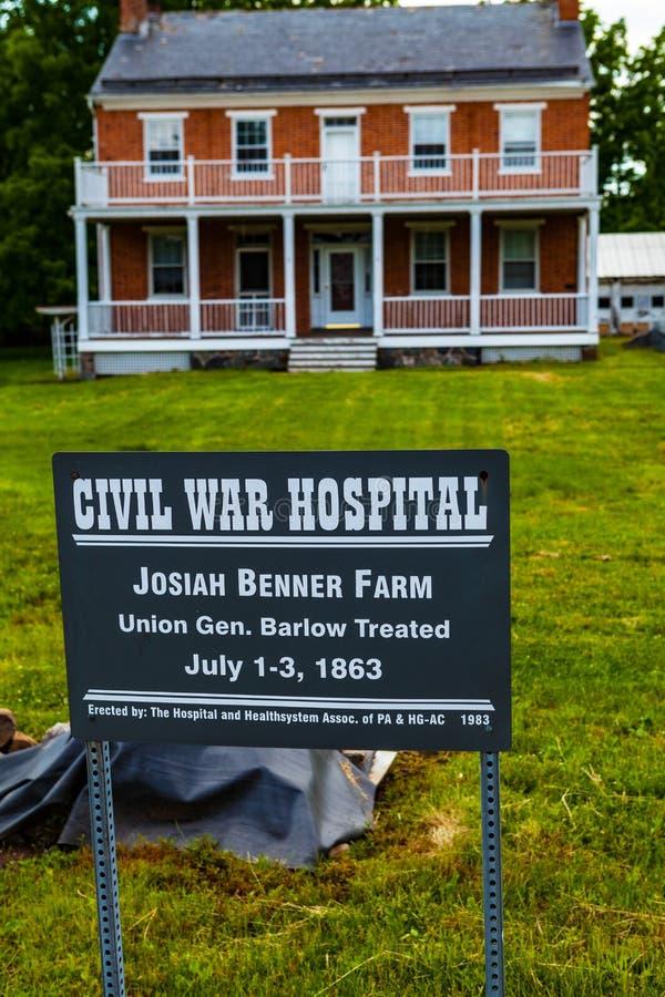 Josiah Benner dom wiejski w Gettysburg obraz stock