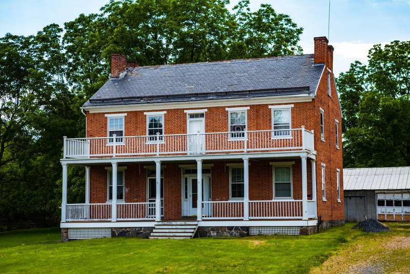 Josiah Benner Farm-huis in Gettysburg stock foto