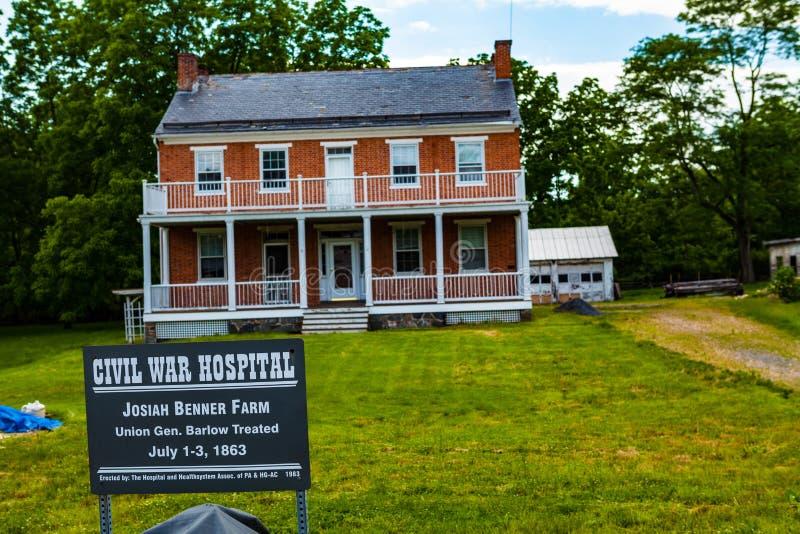 Josiah Benner gospodarstwo rolne w Gettysburg obrazy royalty free