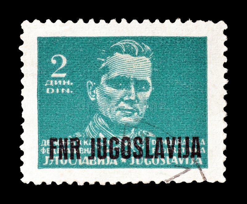 Josip Broz Tito на печатях почтового сбора стоковые изображения