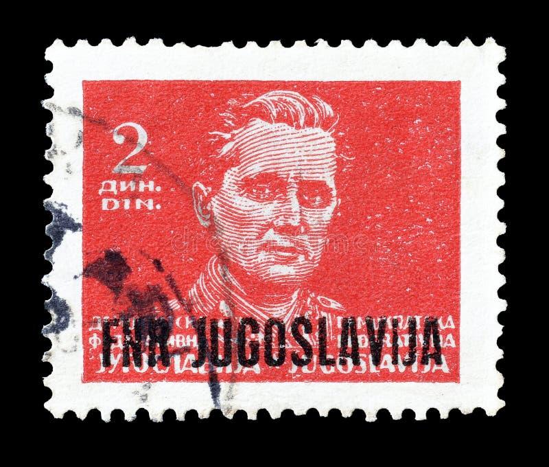 Josip Broz Tito på portostämplar royaltyfria foton
