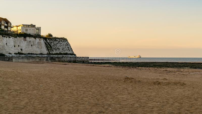 Joss Bay, près de Broadstairs, Kent, Angleterre, R-U images libres de droits