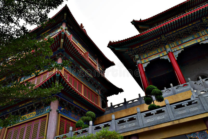Joss house at Bangkok. Thailand.Here are temple of Chinese.This is so beautiful royalty free stock images