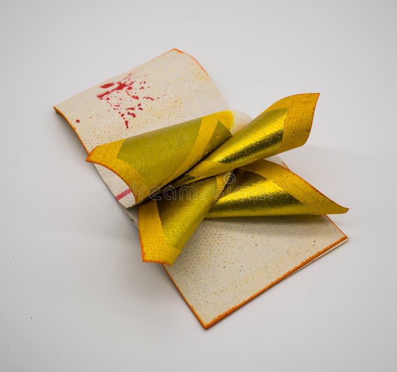 Joss Paper Chinese Tradition für geführten weg Vorfahr ` s Geist, stockbild