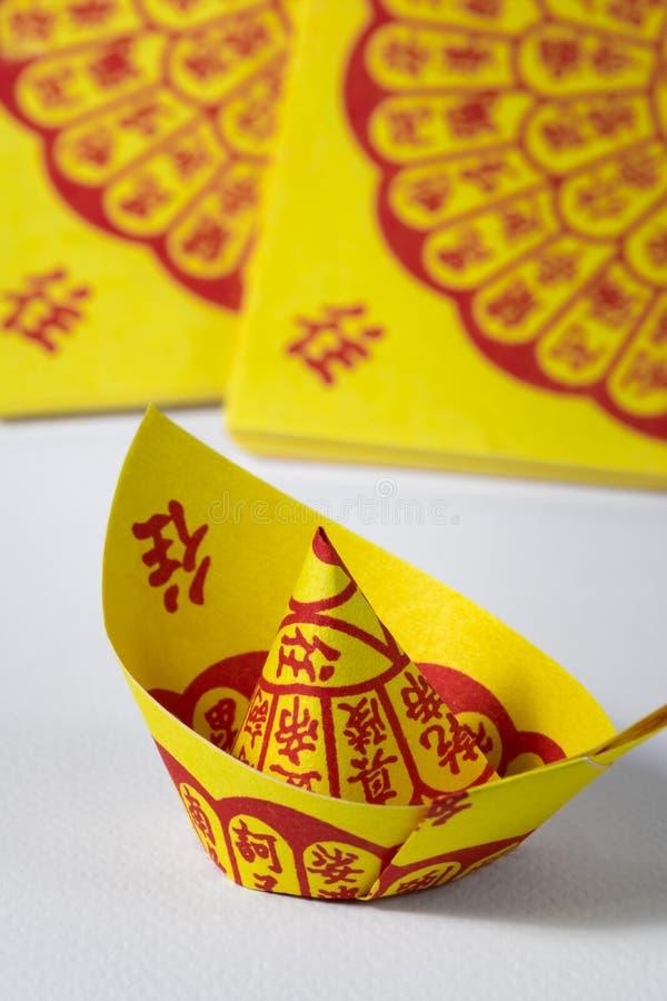 Joss Paper Chinese Tradition für geführten weg Vorfahr ` s Geist stockbilder
