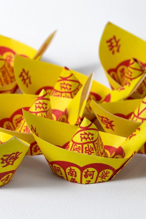 Joss Paper Chinese Tradition für geführten weg Vorfahr ` s Geist stockfoto