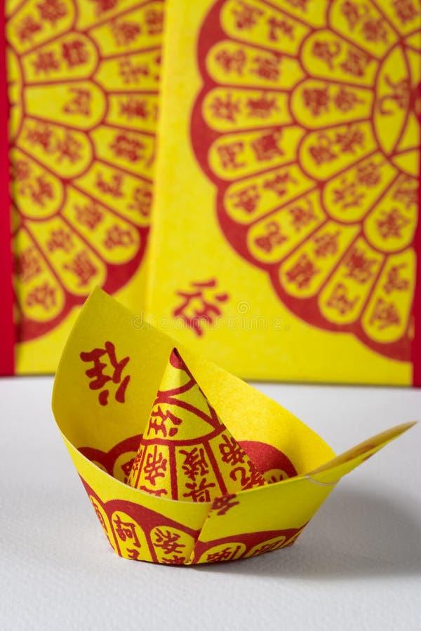 Joss Paper Chinese Tradition für geführten weg Vorfahr ` s Geist lizenzfreies stockfoto
