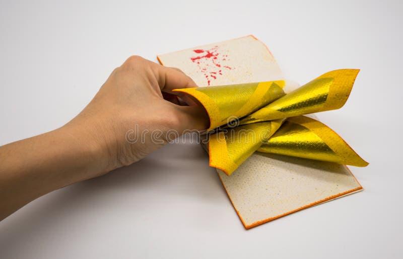 Joss Paper Chinese Tradition pour disparus des spiritueux du ` s d'ancêtre, images stock