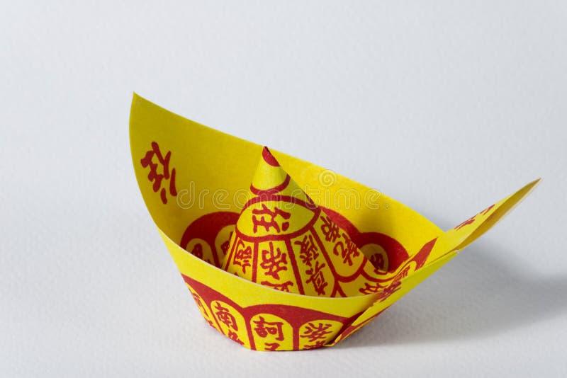 Joss Paper Chinese Tradition voor verdwenen voorvader` s geesten royalty-vrije stock afbeelding