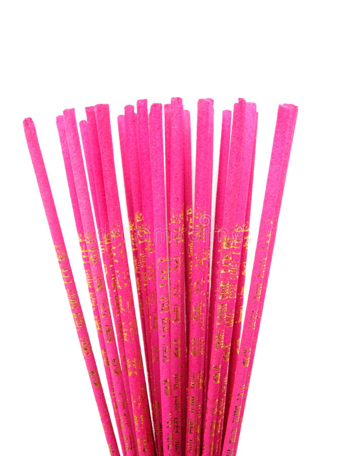 Joss sticks. With golden word on it stock photography