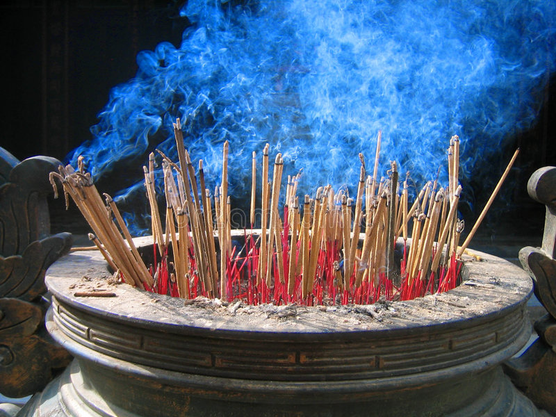 Joss sticks royalty free stock photo