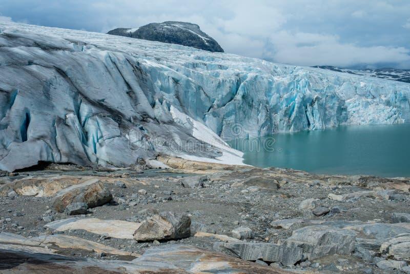 Jostedalsbreen冰川风景看法  库存照片
