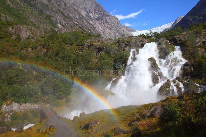 jostedalsbreen den nationella norway parken royaltyfria bilder