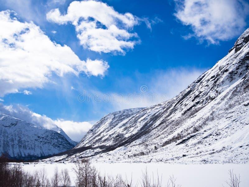 Jostedalsbreen nationalpark i Norge royaltyfri foto