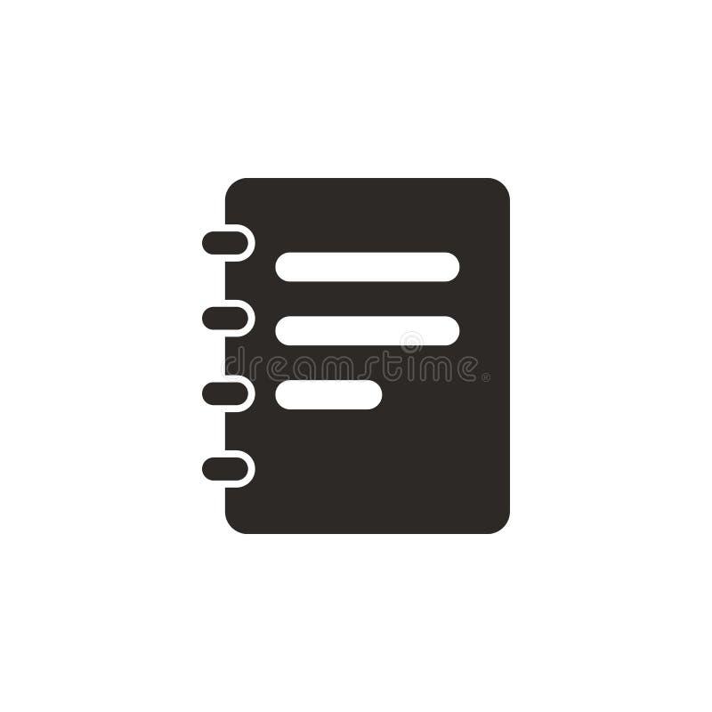 Jotter anteckningsboksymbol - vektor Enkel best?ndsdelillustration fr?n UI-begrepp Jotter anteckningsboksymbol - vektor infograph vektor illustrationer