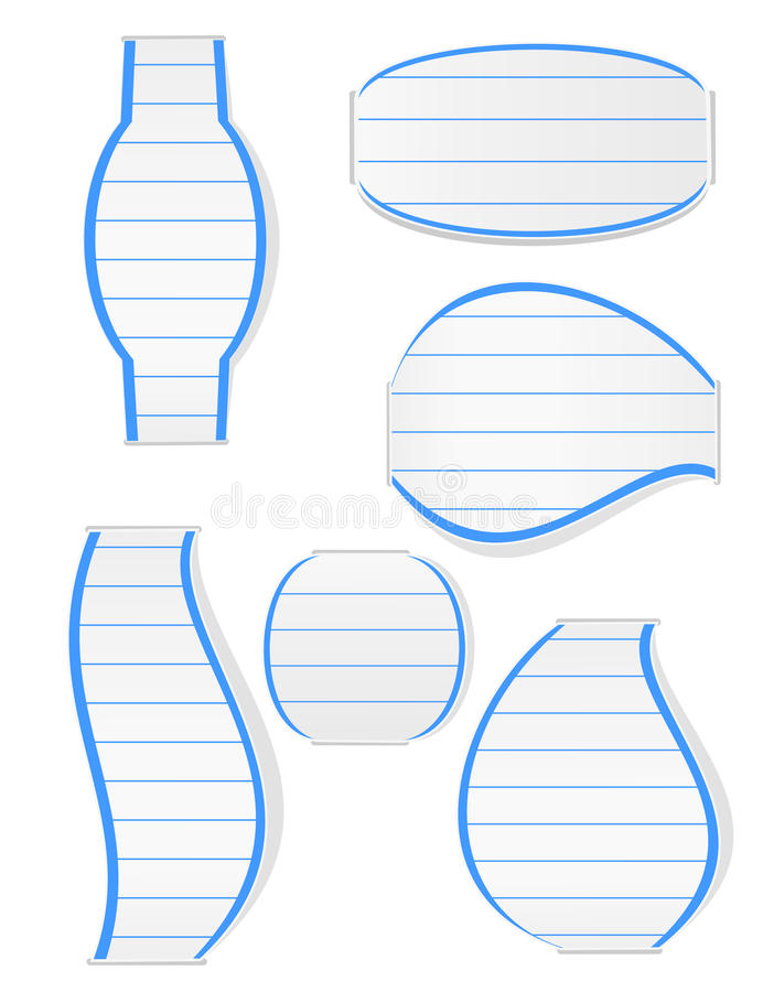 Download Jotter Bookmarks stock vector. Image of empty, shadow - 27527037