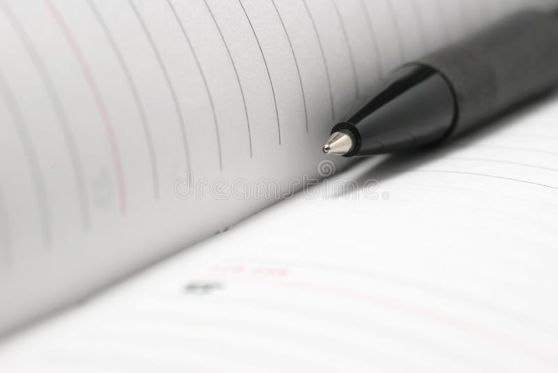 Download Jotter and pen close up stock image. Image of isolated - 4226313