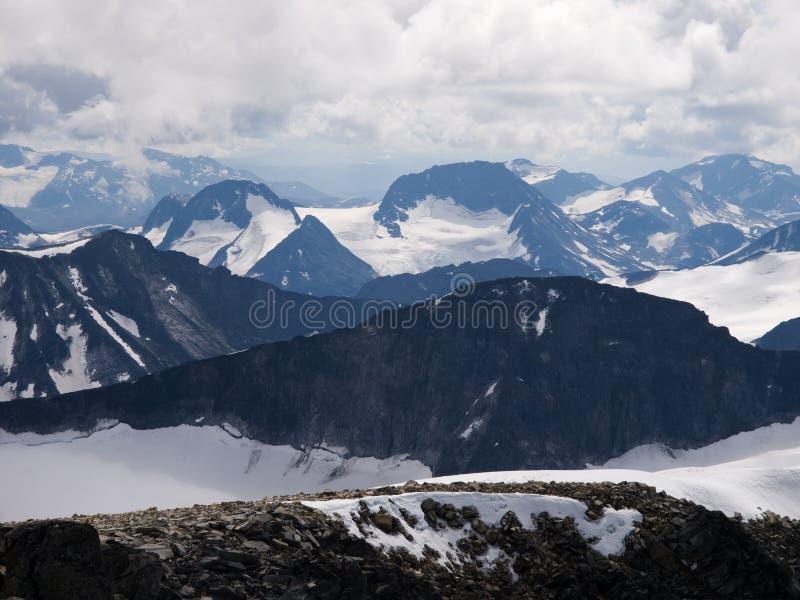 Jotunheimen van Galdhopiggen Mt., Noorwegen stock foto's