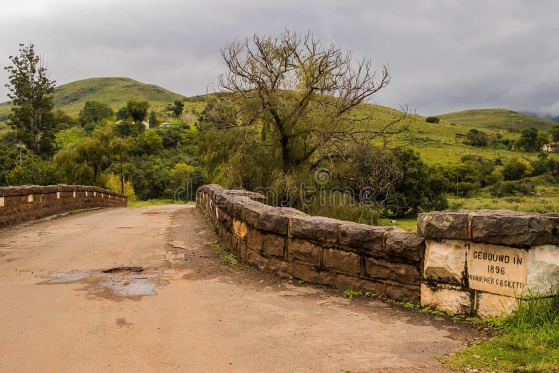 Joubert Bridge fuera del resto del ` s del peregrino en Suráfrica imágenes de archivo libres de regalías