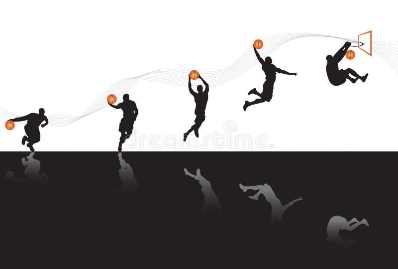 Jouer au basket-ball image stock