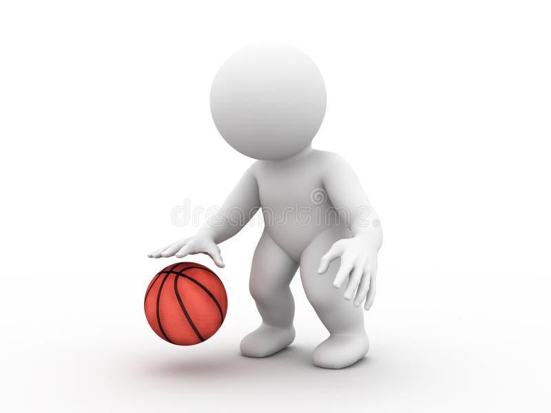 Jouer au basket-ball illustration de vecteur