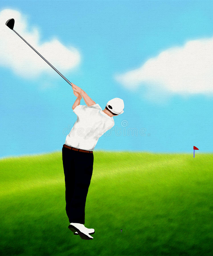 Jouer au golf photographie stock libre de droits