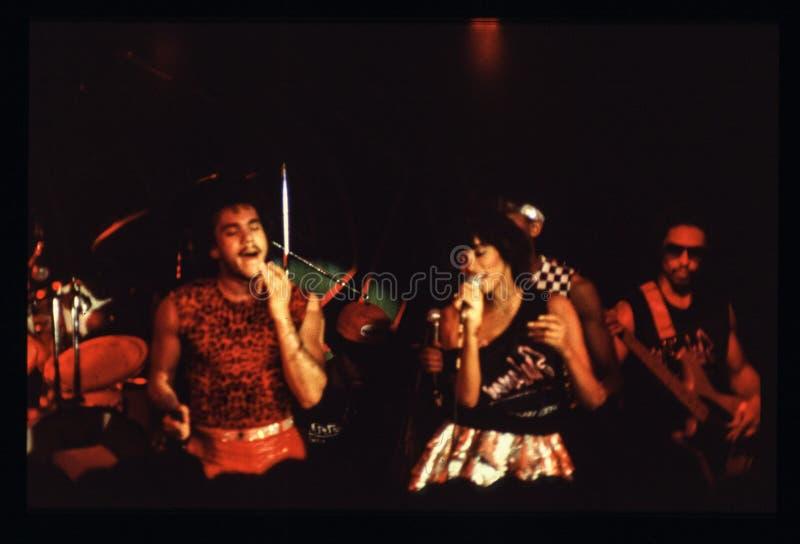 Jouer de bande de Shalamar vivent dans le début des années 1980 du R-U fin 1970 s photographie stock