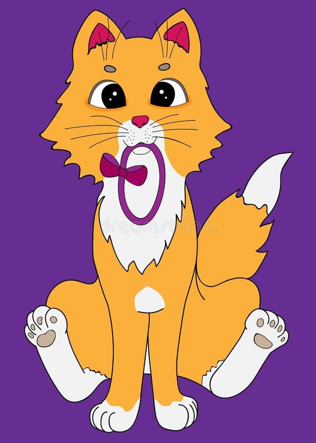 Jouer de chaton de gingembre images libres de droits