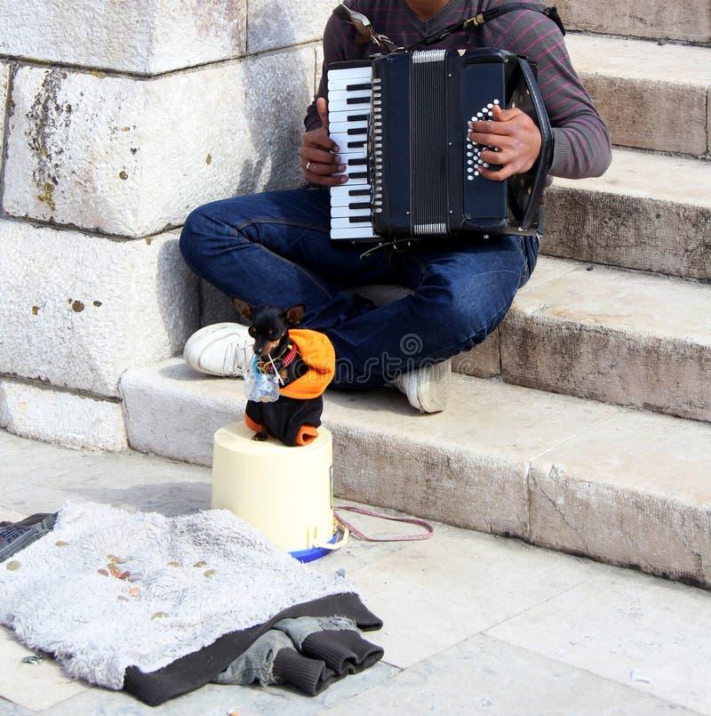 Jouer de la musique photos stock