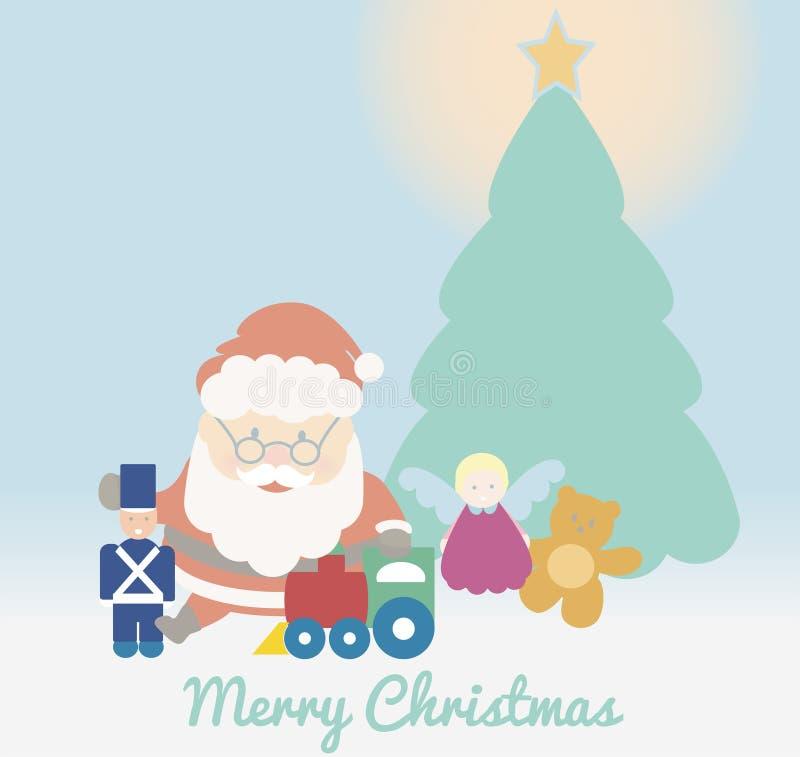 Jouer de Santa Claus illustration libre de droits