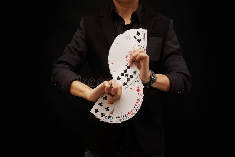Jouer des cartes, fan de S image libre de droits