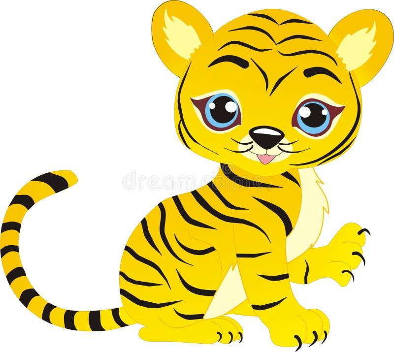 Jouer l'petit animal de tigre photo stock