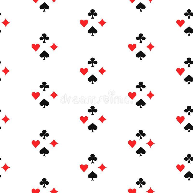 Jouer la carte adapte au modèle sans couture illustration libre de droits