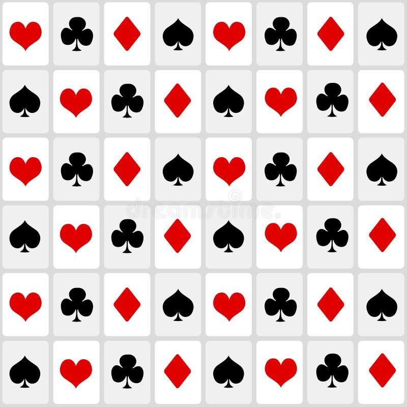 Jouer le fond sans couture de cartes illustration de vecteur