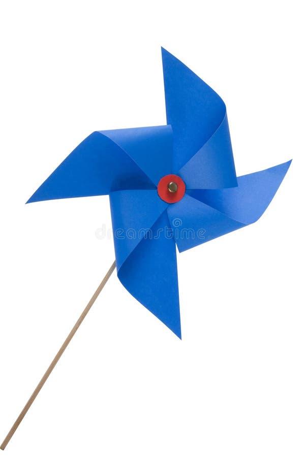 Jouet bleu de moulin à vent image stock
